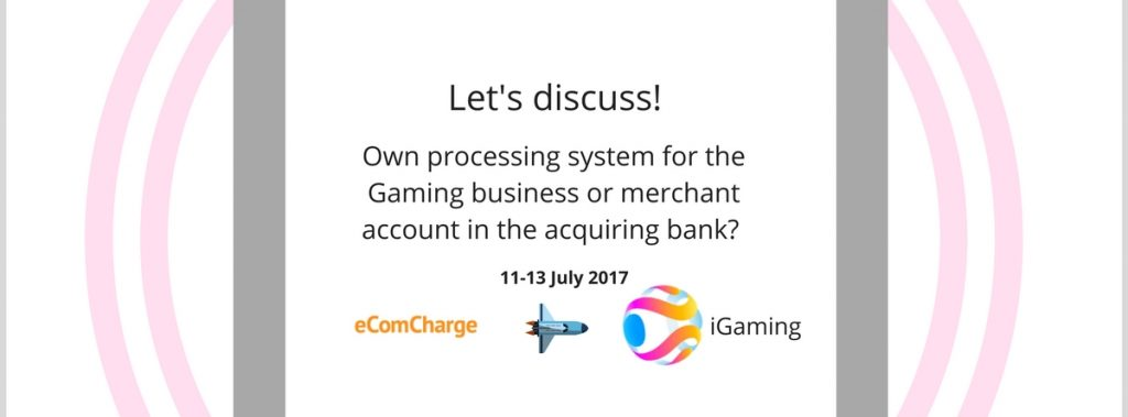 Own processing system for the Gaming business or merchant account in the acquiring bank