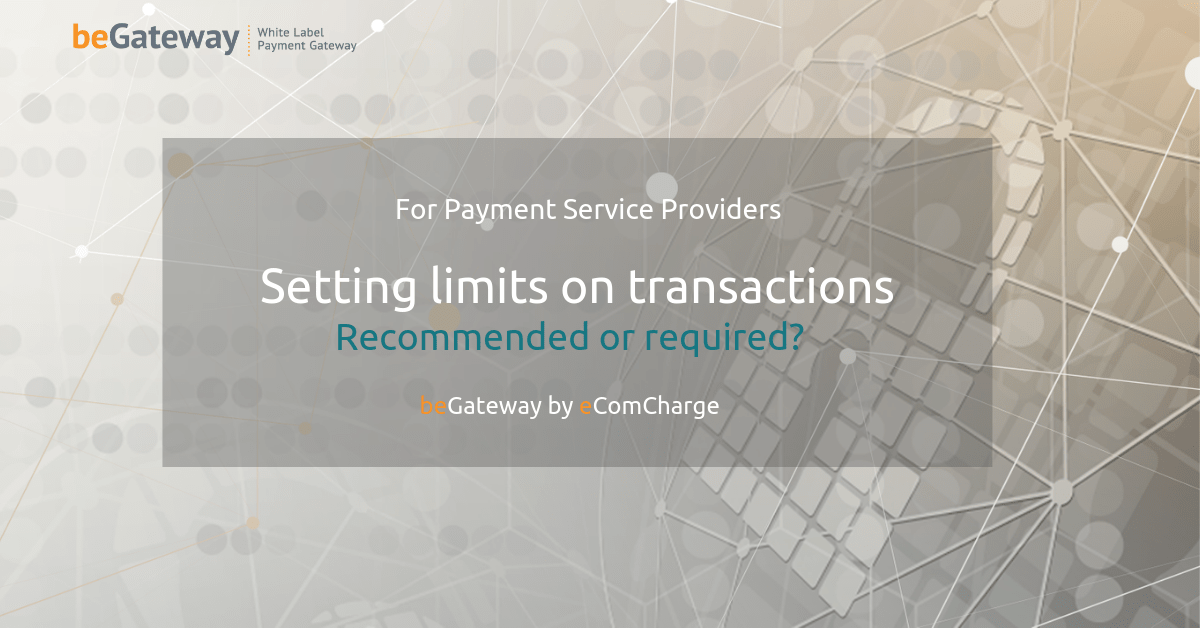 Setting limits on transactions. Recommended or required for a processing company?
